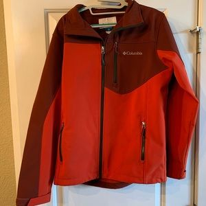 Red Men's Medium Columbia Omni-Wind Jacket